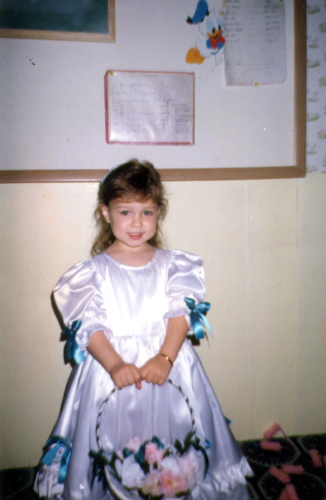 Ashlee as a flower girl age 3