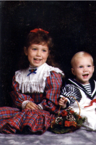 Ashlee age 5 Shawn 1 year